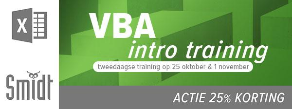 Smidt Excel VBA Training Intro