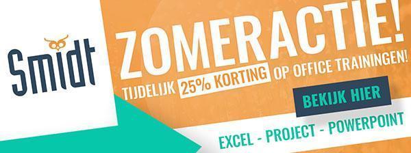 Smidt Zomeractie 25% Korting
