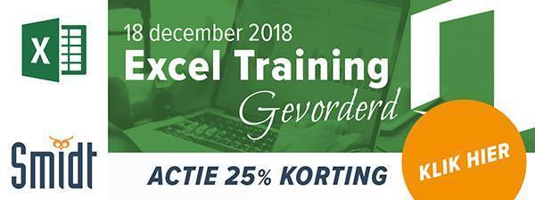 Smidt Excel Training Gevorderd