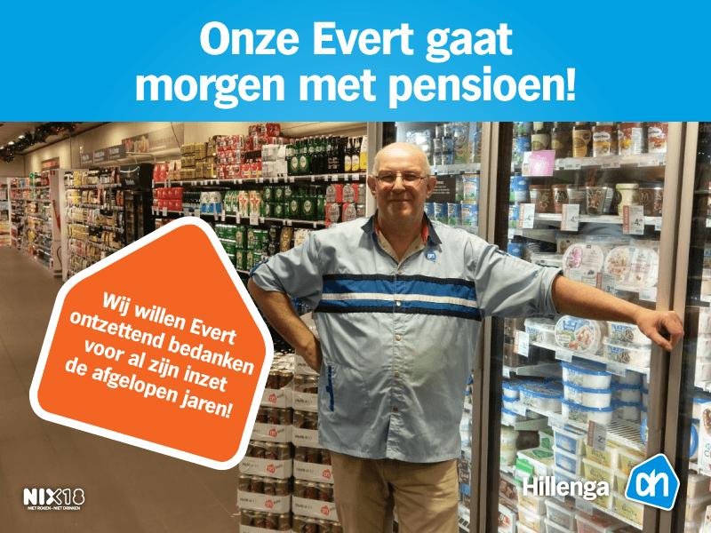 met pensioen na 40 jaar werken Evert na 40 jaar werken in supermarkt met pensioen   AssenStad.nl met pensioen na 40 jaar werken